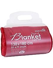 بطانية مايكروفايبر من مينترا، 130 × 180 سم - احمر