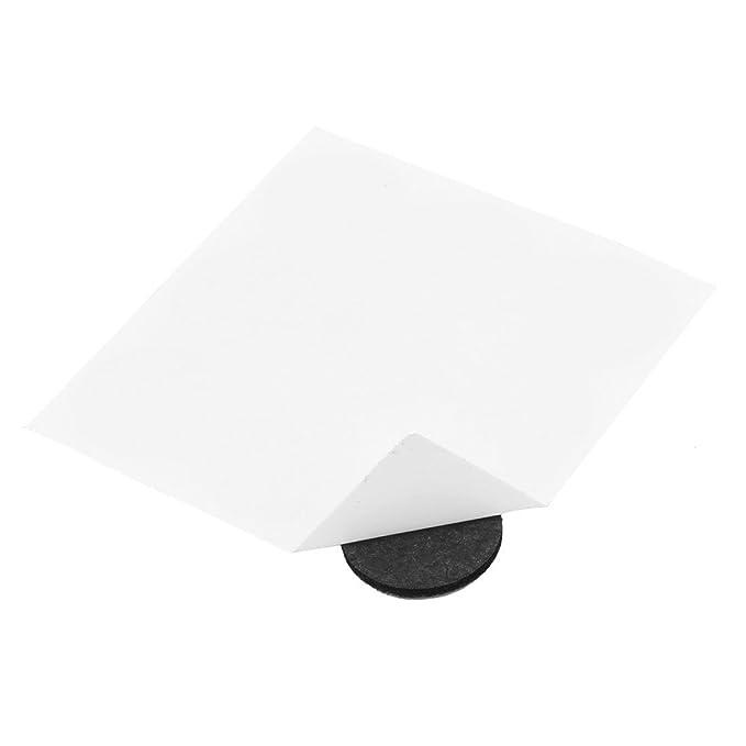 DealMux Mobiliário de feltro anti cero piso de proteção bases Auto Vara silla pierna Pad alfombrillas 25 milímetros de diámetro 72 pcs Preto: Amazon.es: ...