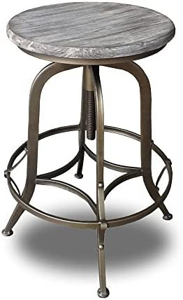 Modern Home Chester Retro Steel Rotating Adjustable Height Barstool – Copper