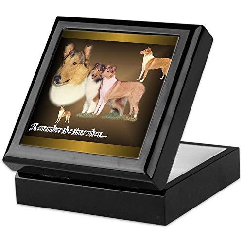 - CafePress Rough and Smooth Collie Gifts Keepsake Box, Finished Hardwood Jewelry Box, Velvet Lined Memento Box