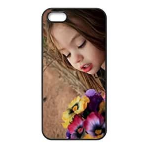 Cute Girl iPhone 5 5s Cell Phone Case Black T4530733