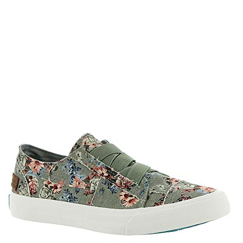Blowfish Women's Marley Drizzle Grey Love Letter Ankle-High Canvas Fashion Sneaker - 7M ()
