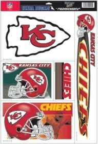 Kansas City Chiefs 11'X17' Ultra Decal Sheet