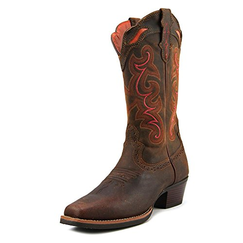 Justin Boots Women's Stampede Collection SVL7319 Light Coffee Waxy 9 B (Justin Boots Stampede Womens)