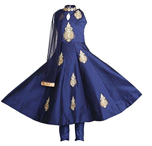 Ashwini Girls Tapeta Blue Salwar,Blue,12- 13 Years (Salwar Blue Suit)