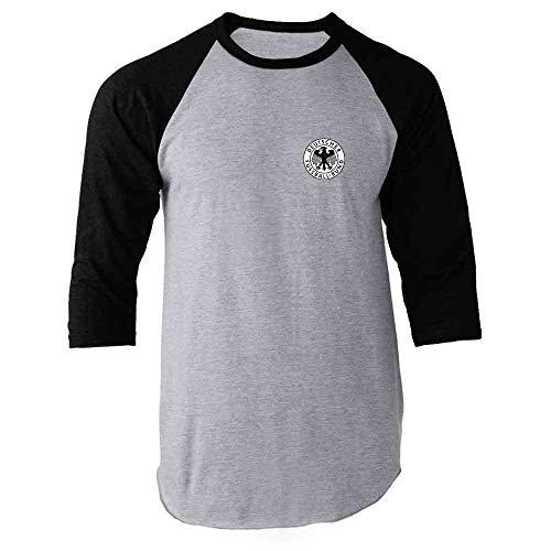 148b1f3d275 Germany Soccer Futbol Retro Vintage National Team Black M Raglan Baseball Tee  Shirt