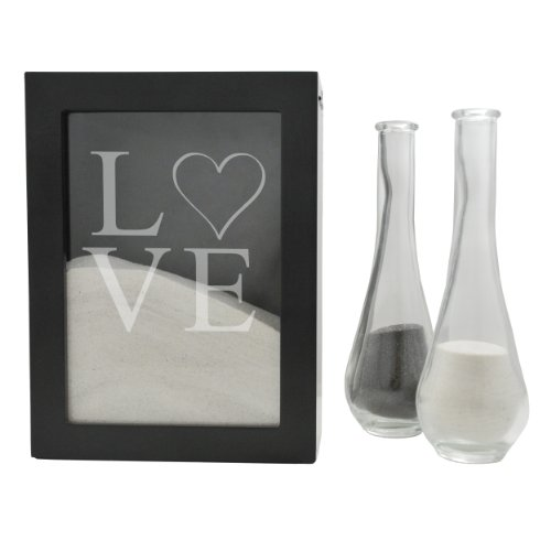 Cathy's Concepts Love Design Sand Ceremony Shadow Box, Black