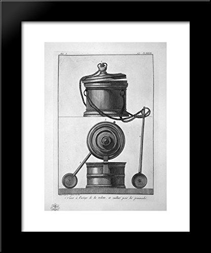 Vases and toiletries, found in Pompeii 20x24 Framed Art Print by Piranesi, Gi.
