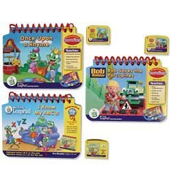 LeapFrog: My First LeapPad Learning System 3-Book Set with I Know My ABCs, Once Upon a Rhyme and Bob the Builder Saves the Porcupines by LeapFrog (Image #1)
