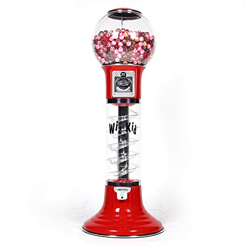 Spiral Gumball Vending Machines - Wiz-Kid 4' Wizard - $0.25 (Red) by Global Gumball (Image #5)