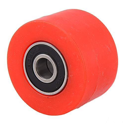 PRO CAKEN Chain Roller Pulley Slider Tensioner Wheel Guide for Pit Dirt Mini Bike 8mm (Red)