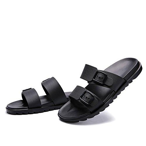 da uomo uomo Due spiaggia Jiuyue morbido per indossare Style scarpe spiaggia New Nero Scarpe da shoes British Trascina da da Fondo Casual Traspirante Color Sandali Pure antiscivolo qtqx4UZE