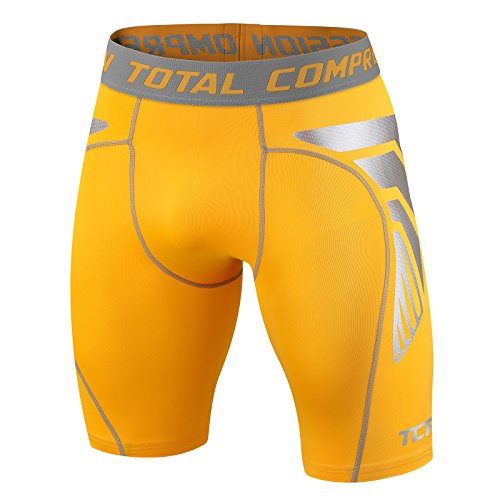Männer Jungen Total Compression Advanced CarbonForce Pro Basis Schicht Shorts Thermal Funktionsunterwäsche Kompressionsshort Armour - X Large - Yellow