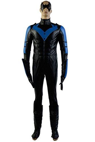 Red Nightwing Costumes (UU-Style Superhero Nightwing Robin Dick Grayson Halloween Cosplay Costume Jumpsuit)