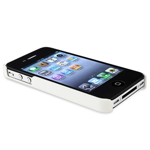 Rubberized Case iPhone 4G Back Cover only (White)