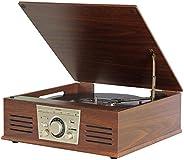 Vitrola Toca Discos De Vinil Sonata Stadio Bluetooth BT Mp3 Rádio Fm Com Conversor Digital Arena Aria Phoenix