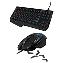 Logitech G502 Proteus Spectrum RGB Tunable Gaming Mouse + Logitech G410 Atlas Spectrum RGB Tenkeyless Mechanical Gaming Keyboard Bundle