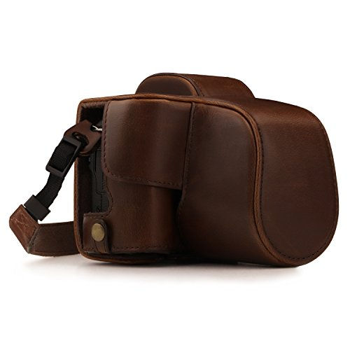 Megagear Canon EOS M50 Pu Leather Camera Case, Dark Brown (MG1447)