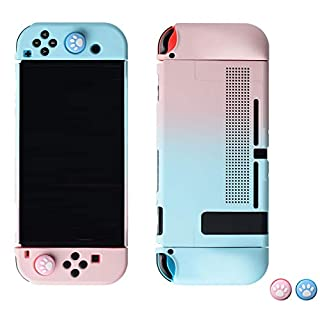 magictodoor Elegant Dockable Protective Dockable Case for Nintendo Switch - Handheld Grip Protector Cover - Include Thumb Grip Caps