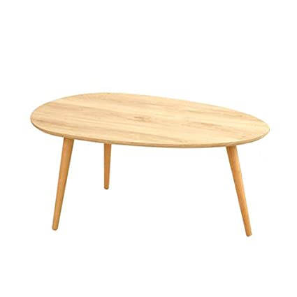 Desk Xiaolin Small Apartment Living Room Oval Tea Table Solid Wood