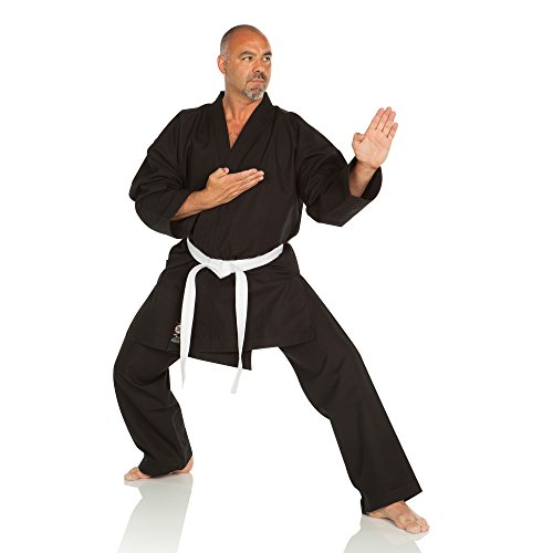 Ronin Brand Super Heavyweight 16oz. Karate Gi (Black, 6)