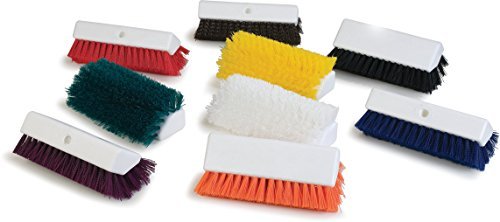 Carlisle 4042305 Hi-Lo Floor Scrub Brush, Red (Pack of 12) by Carlisle (Image #1)