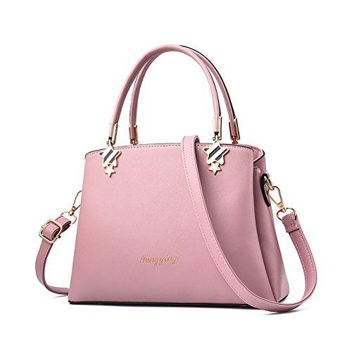 Tisdaini Dama bolso de mano moda casual Salvaje bolso bandolera bolsas de marca Rosa