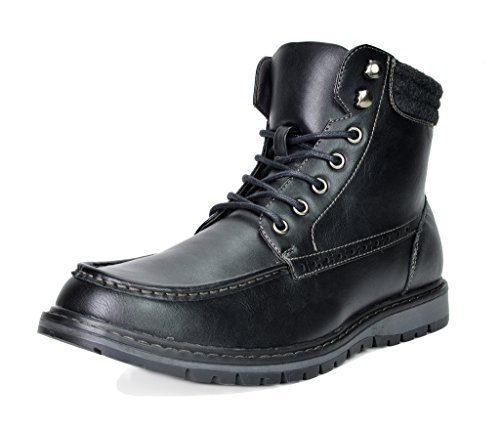 Bruno Marc Men's Apache Motocycle Combat Ankle Boots