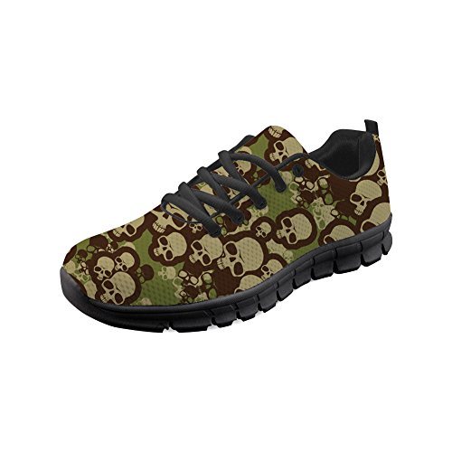 Pattern 3 Sneakers Skull up Shoes IDEA for Skull Lace Running Walking Women HUGS Lightweight Men 6qpgWET
