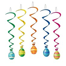 Beistle Company Mens Easter Egg Whirls Assorted