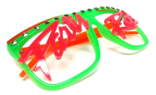 Novelty Costume Party Rock Flat Top LMFAO glasses music video shade eywear - Rock Videos Sunglasses Music