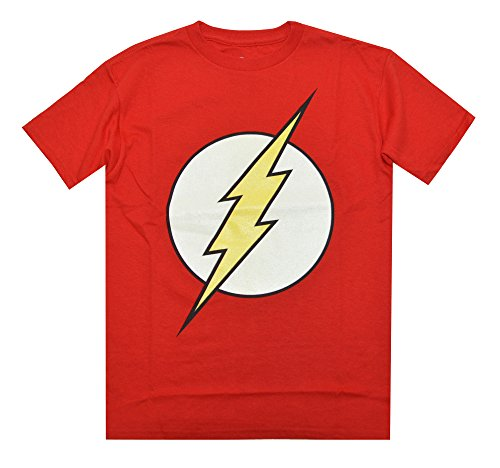 The Flash Glow in the Dark Logo Licensed T-shirt for Boys (S) (Dc Clothing For Kids compare prices)