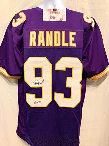 John Randle Minnesota Vikings Signed Autograph Purple Custom Jersey HOF Inscribed JSA Witnessed Certified ()