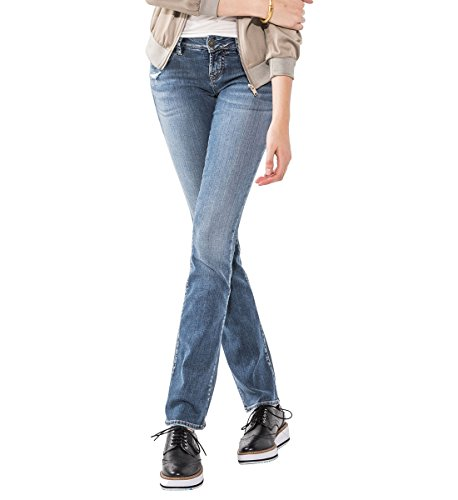 Silver Jeans Women's Berkley Low-Rise Slim Bootcut Jeans, Medium Indigo Wash, 31X31