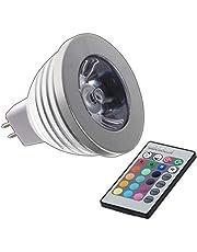 MR16 RGB 4W LED - 12V AC/DC kleur veranderende lamp 4 Watt met afstandsbediening kleurlicht lamp spot gloeilamp spot