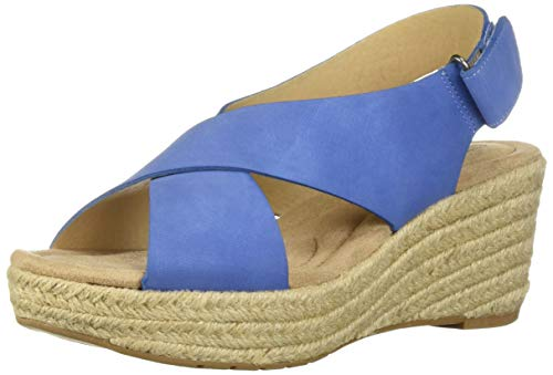 - CL by Chinese Laundry Women's Dream Too Wedge Sandal, Denim Nubuck, 5.5 M US