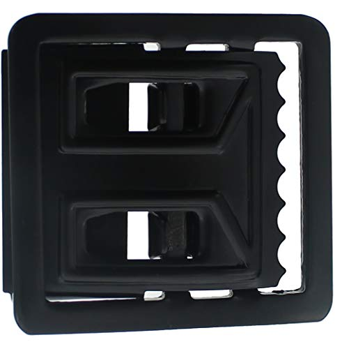 Black Open Face Web Belt Buckle 1.25