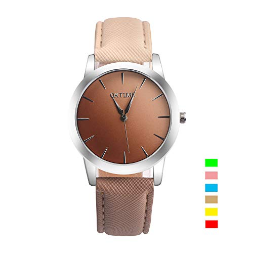 Women's Watches Quartz Analogue Wrist Watch with Leather Band Waterproof Teenager Girl Watch