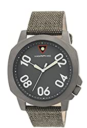 Morphic Men's 'M41 Series Canvas with Backing Strap' Quartz Stainless Steel and Leather Watch, Color:Olive (Model: MPH4103)