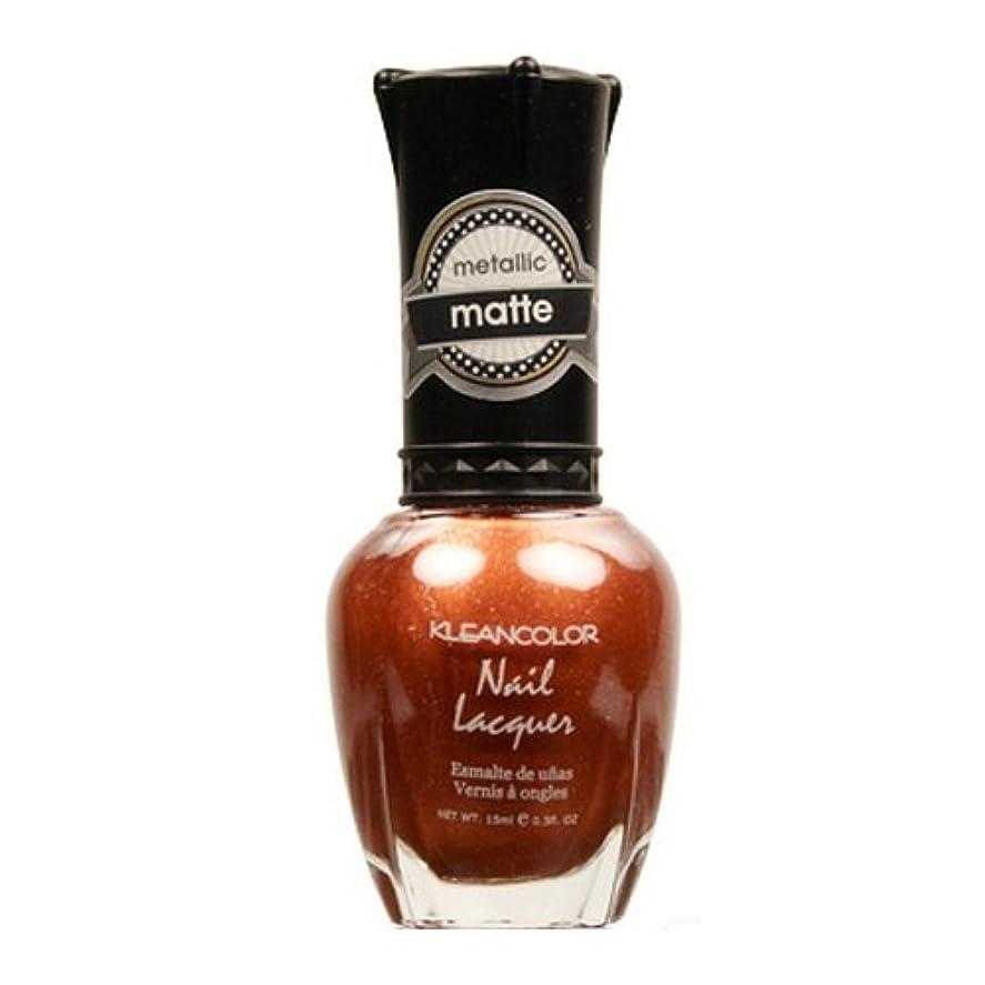 酸っぱい不潔閉じ込める(3 Pack) KLEANCOLOR Matte Nail Lacquer - Oh So Teasing (並行輸入品)