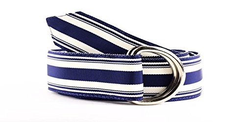 F.H. Wadsworth Grosgrain Ribbon D-Ring Belt (Large, Snowbird)