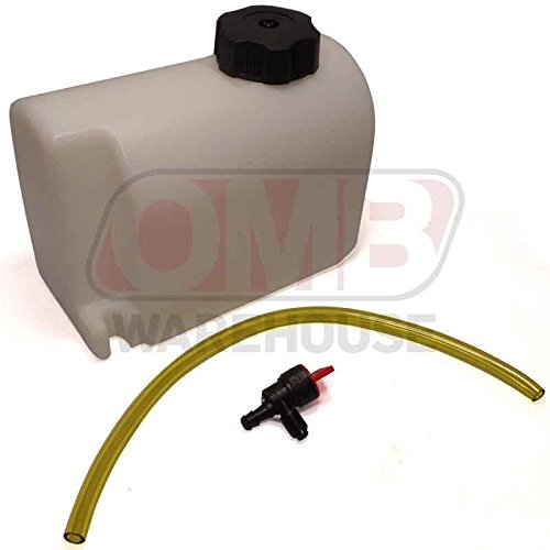 OMB Warehouse 2 Quart Plastic Racing Go Kart Gas Tank (Go Kart Fuel Tank)