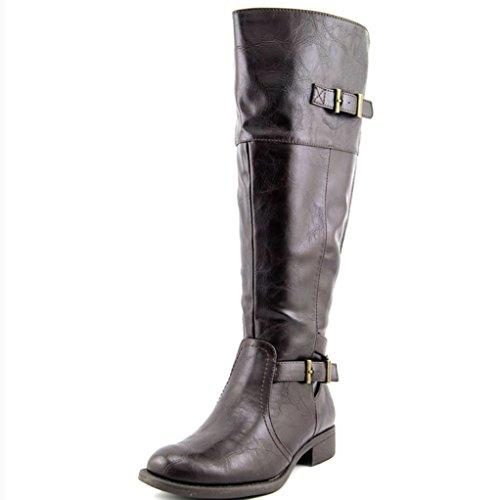 Yuu Rocio Women Round Toe Synthetic Womens Knee High Boot...