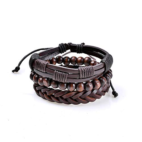 HOUBL 2019 Bracelets for Women Luxury Brand Fashion Women Handmade Wristband Leather Bracelet Bangle,Rhodium Plated