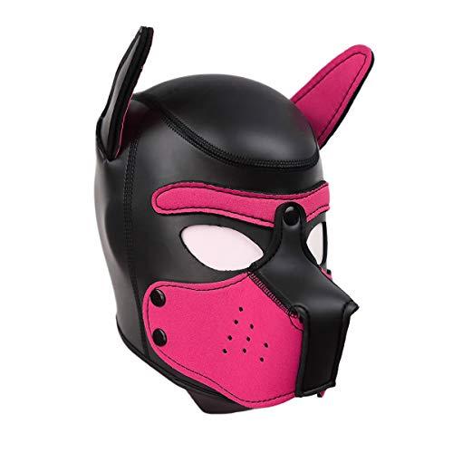 HOT TIME Neoprene Thick Puppy Hood Custom Animal Head Mask Novelty Costume Dog Head Masks Unisex