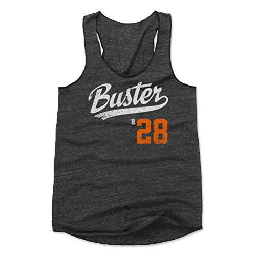 500 LEVEL Buster Posey Women's Tank Top X-Large Black - San Francisco Baseball Women's Apparel - Buster Posey Buster Players Weekend O WHT ()