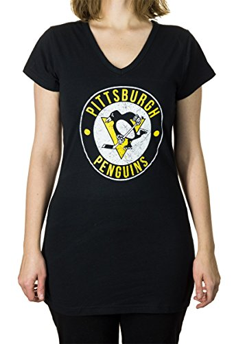 NHL Ladies Official Team V-Neck Cover Up Shirt (Large, Pittsburgh Penguins)