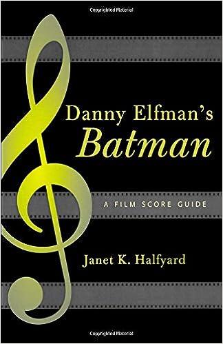 Danny Elfmans Batman A Film Score Guide Scarecrow Film Score