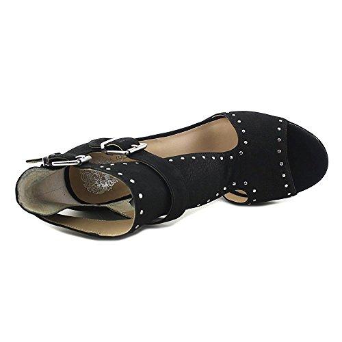 3683dbd48e1 Vince Camuto Jatola Women s Suede Studded Open Toe Block Heel Sandal Shoes