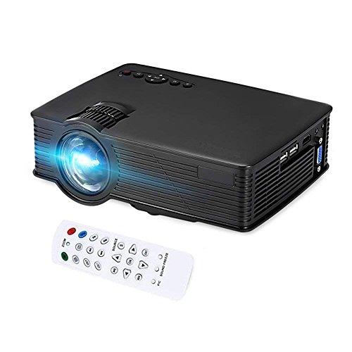 GBTIGER 2200 Lumens Full HD 1080P Portable Mini Projector 1920 x 1080 Pixels 20000Hours Lens Life Times LCD LED Projector Home Theater, AV/HDMI/VGA/USB (Black)